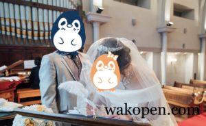 結婚式の結婚証明書への署名