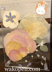 押し花に保存加工したウェディングブーケ
