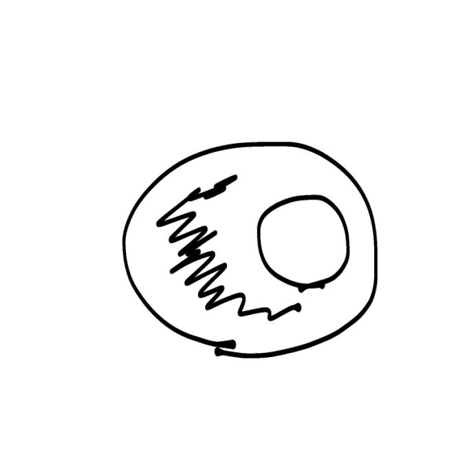 2段のウェディングケーキのデザイン図