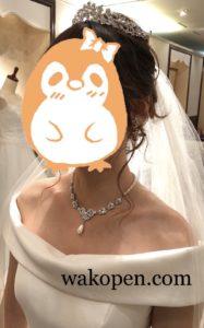 ウェディングドレスのヘアメイク