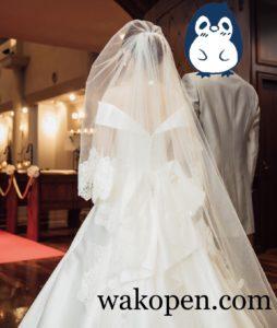 結婚式の入場シーン
