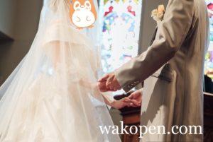 結婚式の誓いの言葉の写真